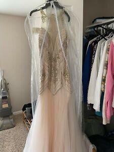 jasz couture Ivory prom dress. Size 6.