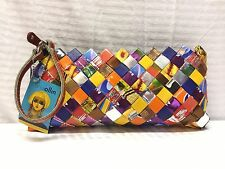 NWT Nahui Ollin Handmade Wrapper Wristlet, Clutch, Purse, Bag, Recycled