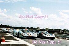 Gulf Porsche 917 LH & Martini Porsche 917 Le Mans 1971 Photograph