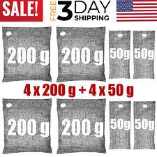 Air Purifying Bag Purifier Nature Fresh Charcoal Bamboo Mold Freshener 8 Bags