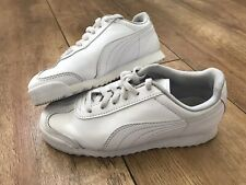 Boys White Puma Trainers Kids size UK 13 Cricket Shoes