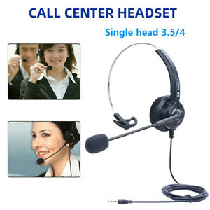 Call Centre headset Noise Cancelling Headphone Microphone Call Office Telephone
