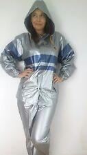 PVC Plastic Vinyl  Pants Suit Raincoat  Regenmantel ladies Size S / L