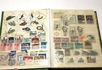 Vintage Stamps Green Old Different Used Stamp Lot Album Collection Worldwide