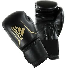 Adidas Speed 50 Boxing Gloves Black Gold Sparring 4 - 16 oz Training Adults Kids