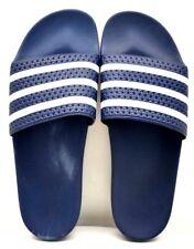 the latest d5e82 a206b Adidas Adilette diapositiva 288022 Azul MarinoBlanco EE. UU. Talla  13-Envío Gratuito-Nuevo
