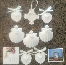 Margaret Furlong Porcelain Collector Christmas Ornaments Angel's Cross Flower