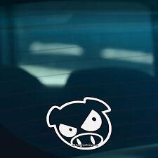 2x mal Scooby cerdo coche, furgoneta, ventana de parachoques, Jdm Dub Vag Drift Vinilo calcomanía de pegatinas
