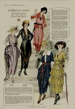 1920 WOMANS FASHION PAGE / AFTERNOON MODES - COLORFUL STYLES...