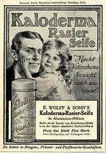 Kaloderma Rasier- Seife F. Wolff & Sohn Karlsruhe Histor.Annonce v.1911