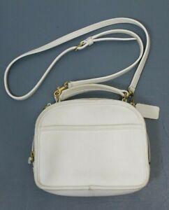 COACH VINTAGE WHITE LEATHER LUNCH BOX BAG CROSSBODY PURSE #9991 USA