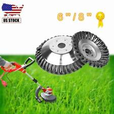 6''/8'' Steel Wire Wheel Brush Silver Grass Cleaning Garden Tools Head Trimmers