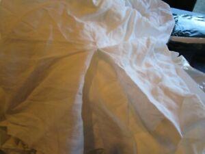 West Elm Belgian linen  bedskirt bed skirt queen platinum  New w tag