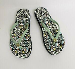 Tory Burch Womens Flip Flops Shoes Sandals Thong Multi-Color Size 5