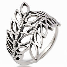 LEAF RING STERLING SILVER GIFT THAILAND Size.US=9,UK=R.