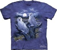 Snowy Owls T-Shirt by The Mountain. Birds Moonlight Plumage Sizes S-5XL NEW