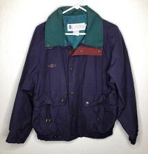 Vintage Columbia Mens Size Medium Purple Green Full Zip Chore Coat