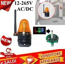 LAMPEGGIANTE CON ATENNA A LED 12V A 230V AC DC LAMPEGGIATORE CANCELLO UNIVERSALE