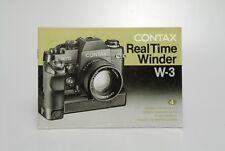Contax Real Time Winder W-3 Bedienungsanleitung