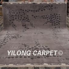 Yilong 8.3'x10' Shaggy Handmade Wool Rug Contemporary Hand-knotted Carpet C59S
