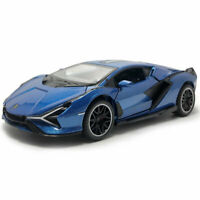 1:32 2019 Lamborghini Sian FKP 37 Supercar Model Car Diecast Toy Vehicle Blue