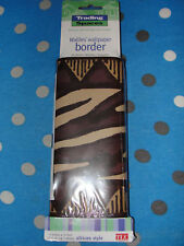JOB LOT- 10X VERY RARE African style Trading Spaces wallpaper border 17.7cmX4.5m