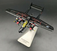 New 1:144 Scale WWII USAF P-61 Black Widow Bomber Aircraft Black Diecast Model