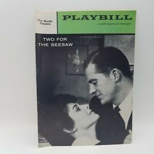 Booth Theatre October 27 1958 Playbill Two For The Seesaw William Gibson