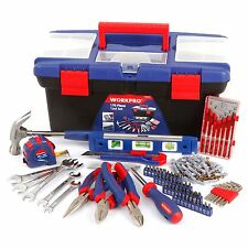 WORKPRO 170PC Mechanic Tool Set Home Repair Kit Pliers Wrench Bit Hex Key Hammer