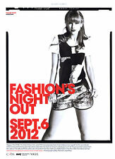 2012 Fashion's Night Out Taylor Swift Norman Jean Roy MAGAZINE AD