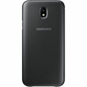Original Samsung EF-WJ730CLEGWW Wallet Cover für Galaxy J7 (2017) Schwarz