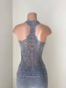 womens camisole slip lace tank top cami lace shirt yoga active party One size