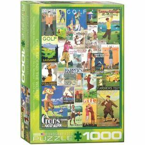 Eurographics 1000 Piece jigsaw Puzzle - Golf - Vintage Collage EG60000933