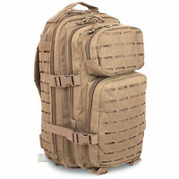 Mil-Tec Small Laser MOLLE Army Hiking Daysack Assault Pack Rucksack 20L Coyote