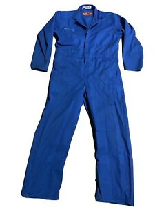 BLUE RED KAP COVERALLS WORK JUMPSUIT WARKWEAR LONG SLEEVE SIZE 60 RG