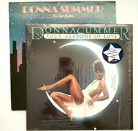 Lot of 3 Donna Summer Vintage Records 1 Poster Four Seasons Love 1976 On Radio