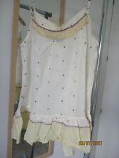 NWT Mes Demoiselles cream strappy polka dot top, size 38 (M)