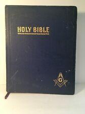 Vtg 1949 Masonic Holy Bible Red Letter Illustrated Cyclopedic Indexed Hertel KJV