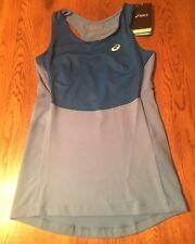 Asics Motion Dry Tennis Athlete Blue Shelf Bra Tank Top Shirt Women's Xs Nwt$50