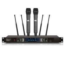 200 Channels Professional UHF True Diversity Dual Karaoke Wireless Microphone