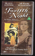 TWELFTH NIGHT - SIR ALEC GUINNESS, TOMMY STEELE - VHS PAL (UK) VIDEO - V. RARE