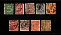 Germany stamps #o1- 13, Officials, short set, minus a couple,used, BOB, SCV $31