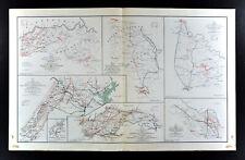 Civil War Map Richmond Lynchburg Hanover Washington Spotsylvania Virginia Battle