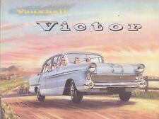 Vauxhall VICTOR F série 1 1957-58 original uk BROCHURE PUB. no. v1076 / a