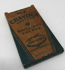 CRAYOLA 6 CRAYONS BRILLIANT COLORS VERY OLD