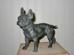 Cody Foster French Black and Silver Bulldog Dog Figure New