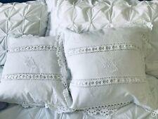 plain white cotton cushion covers