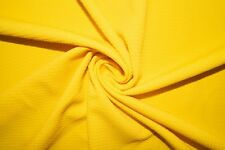 Canary Yellow #21 Bullet Double Knit Stretch Polyester Lycra Spandex Fabric BTY