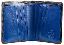 Visconti DN45 Genuine Leather Mens Bi-fold Card Case Wallet Slim Compact Black