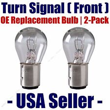 Front Turn Signal/Blinker Light Bulb 2pk Fits Listed Mercedes-Benz Vehicles 7528
